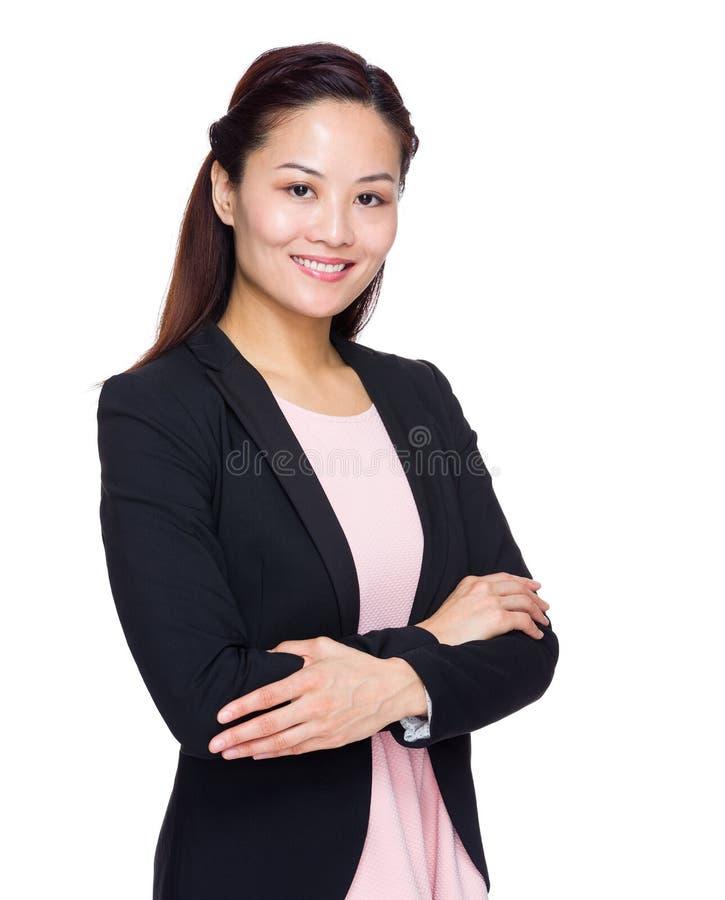 Aziatische bedrijfsvrouw royalty-vrije stock foto