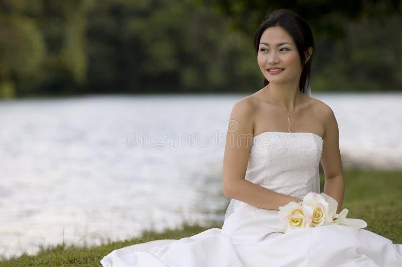 Aziatische Bruid 10 stock fotografie