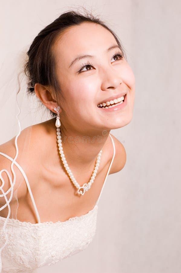 Aziatische bruid stock afbeeldingen