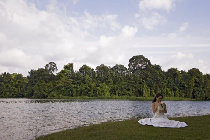 Aziatische Bruid 13 royalty-vrije stock afbeelding