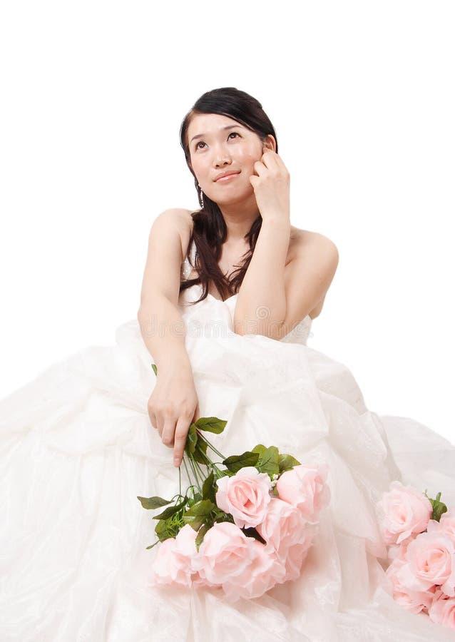 Aziatische bruid stock afbeelding