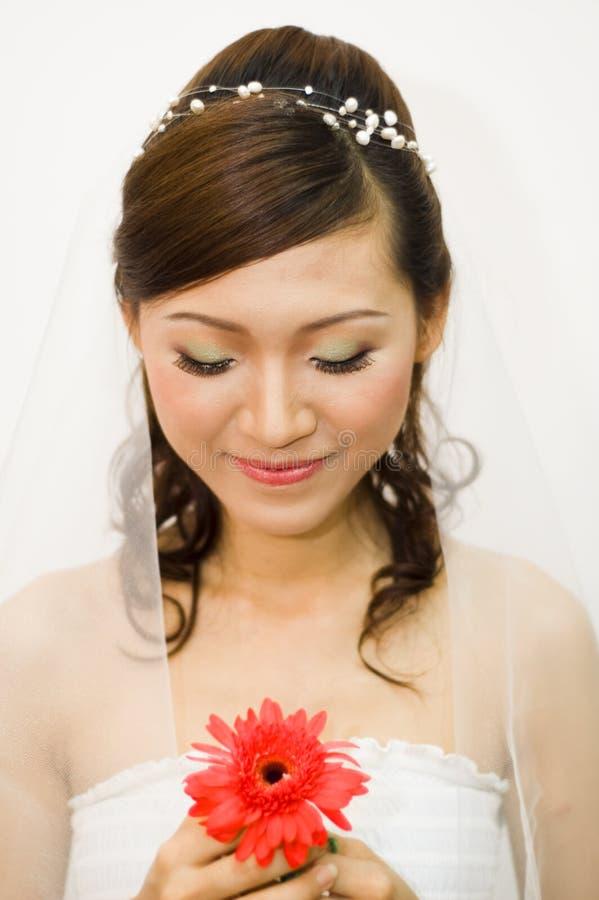 Aziatische bruid royalty-vrije stock afbeeldingen
