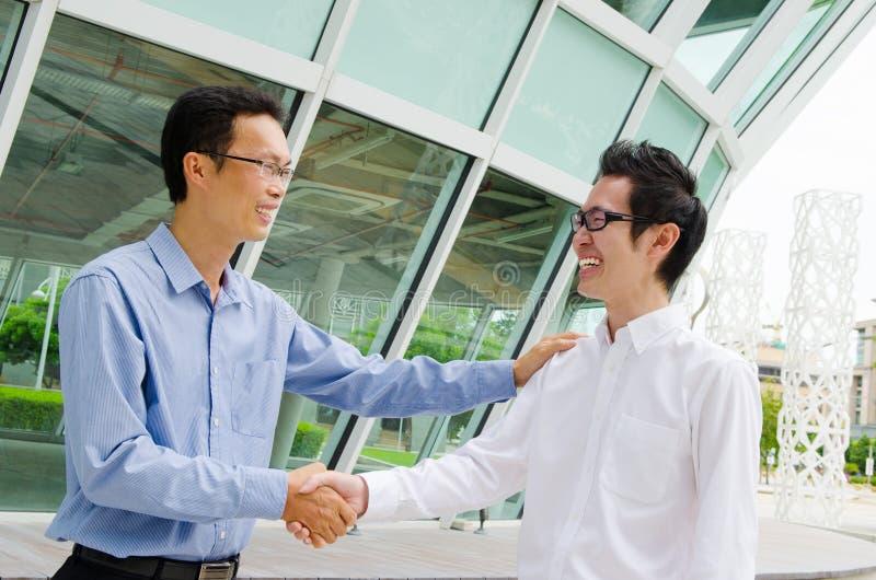 Aziatische commerciële volkeren royalty-vrije stock afbeeldingen