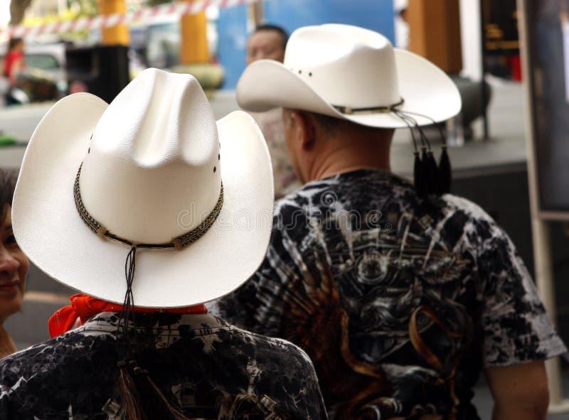 Aziatische cowboys stock foto