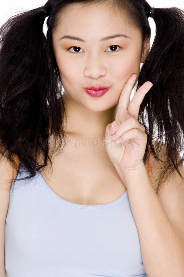 Aziatische Cuteness stock foto
