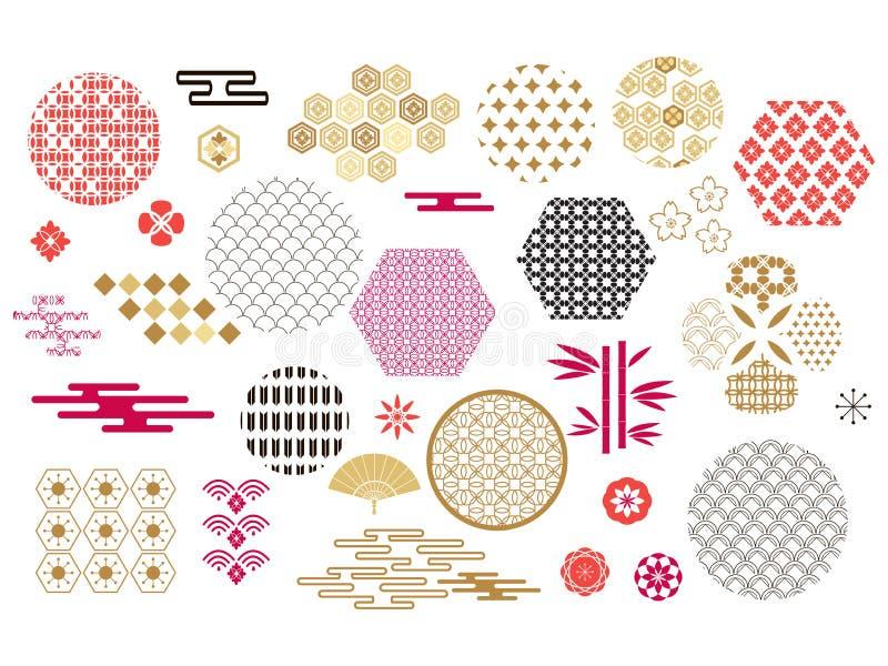 Aziatische elements4 vector illustratie