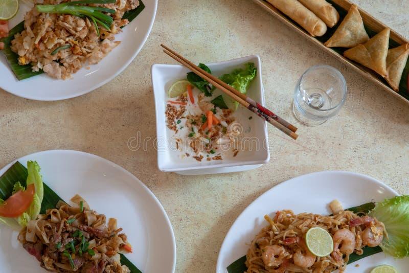Aziatische en Thaise keuken royalty-vrije stock foto