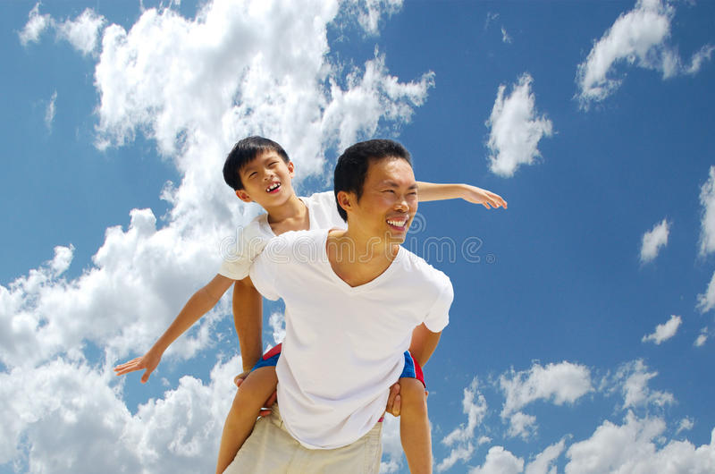 Aziatische familie royalty-vrije stock fotografie