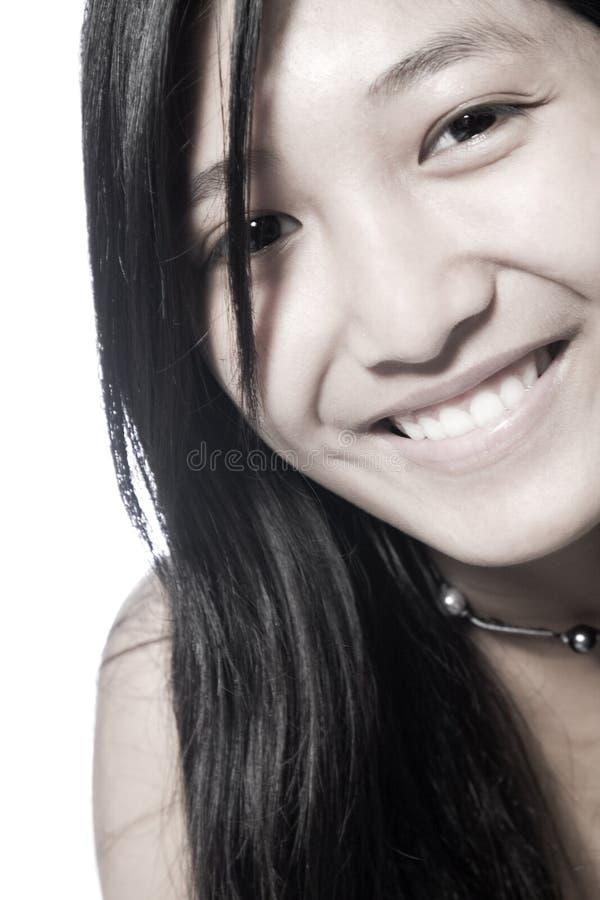 Aziatische Glimlach royalty-vrije stock foto's