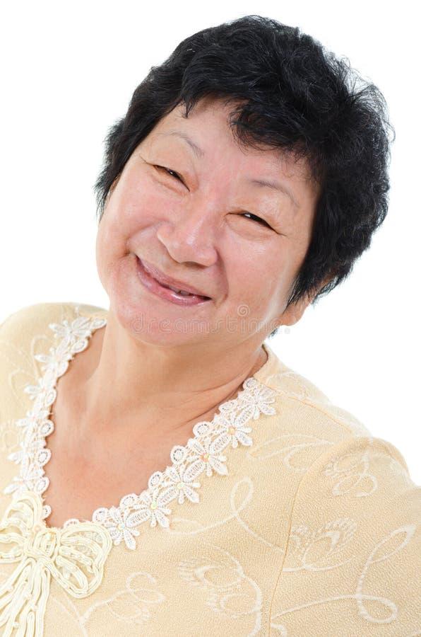 Aziatische Hogere Vrouw royalty-vrije stock foto's
