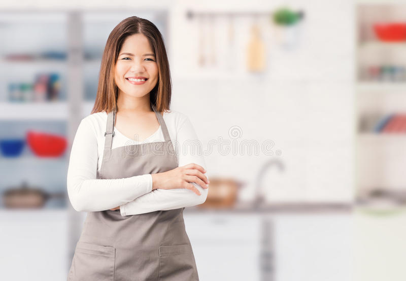 Aziatische huisvrouw stock foto's
