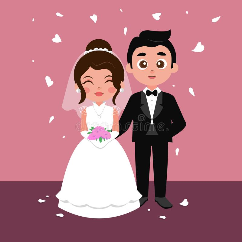 Aziatische huwelijksceremonie royalty-vrije illustratie