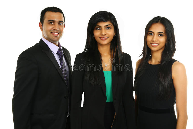 Aziatische Indische zakenlieden en onderneemster in groep stock afbeelding