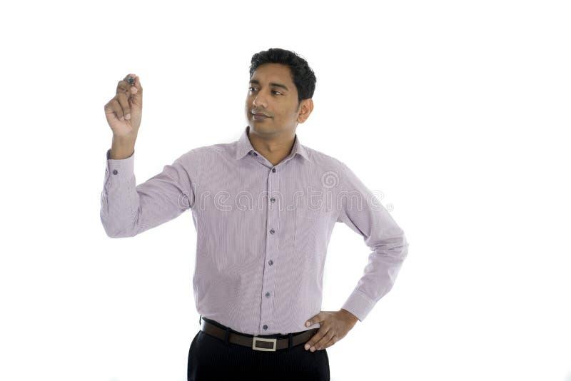 Aziatische Indische zakenman royalty-vrije stock fotografie