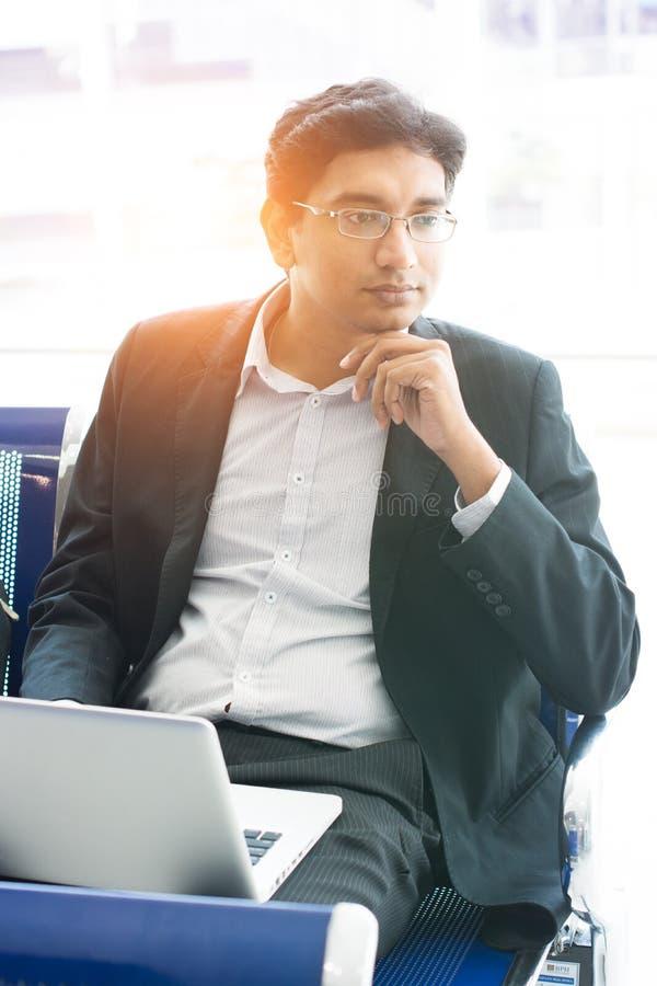 Aziatische Indische zakenman royalty-vrije stock foto