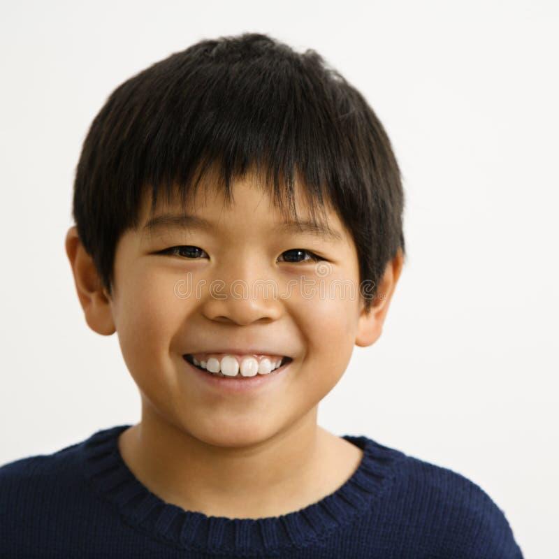 Aziatische jongen stock foto