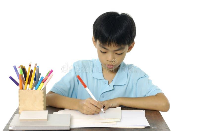 Aziatische jongen stock foto's
