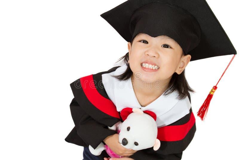 Aziatische Kindgraduatie royalty-vrije stock afbeelding