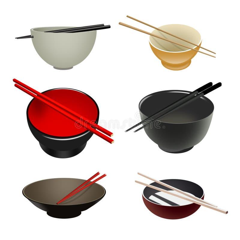 Aziatische Kommen & eetstokjes