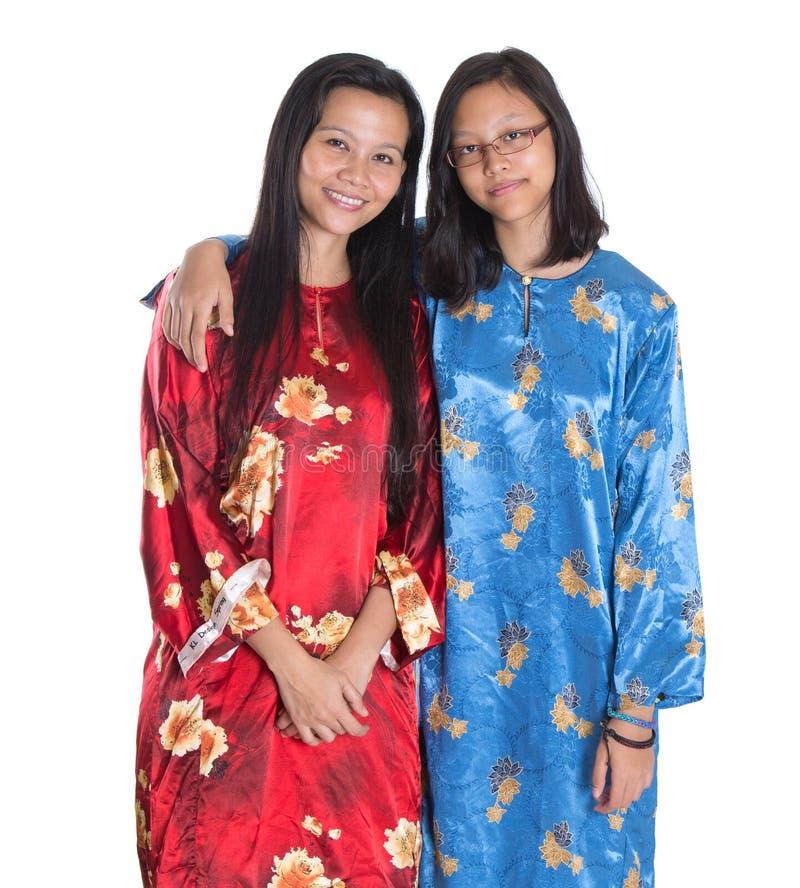 Aziatische Maleisische Moeder en Dochter I stock afbeelding