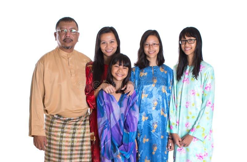 Aziatische Maleisische Ouders met Dochters II stock foto