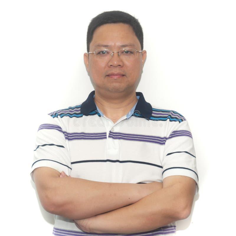 Aziatische medio-volwassen mens royalty-vrije stock foto