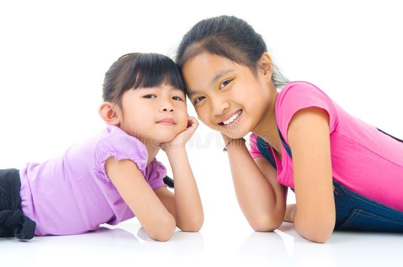 Aziatische Meisjes royalty-vrije stock afbeeldingen