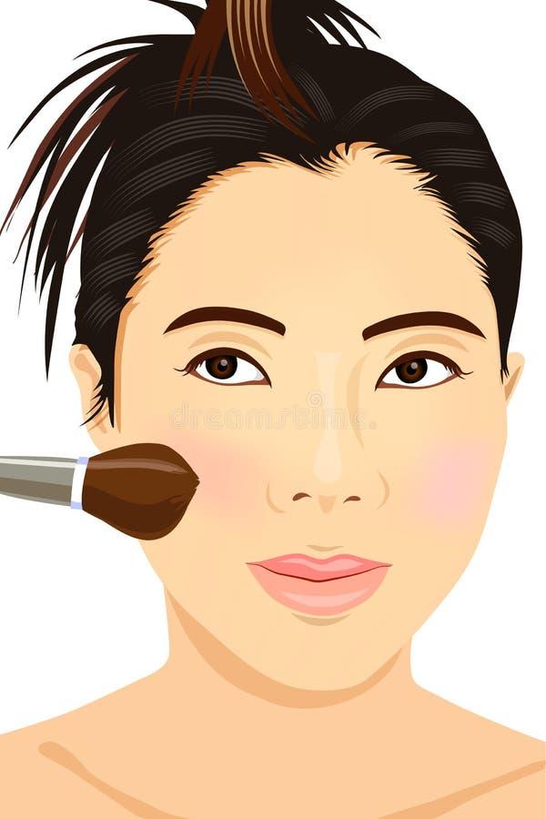 Aziatische meisjessamenstelling stock illustratie