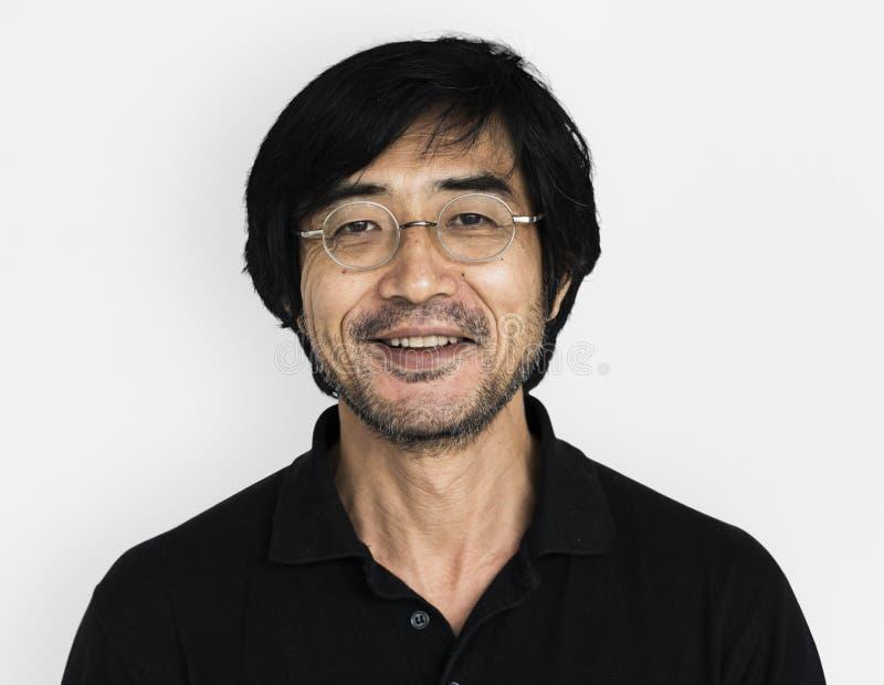 Aziatische Mens die Gelukkig Spruitconcept glimlachen royalty-vrije stock afbeelding