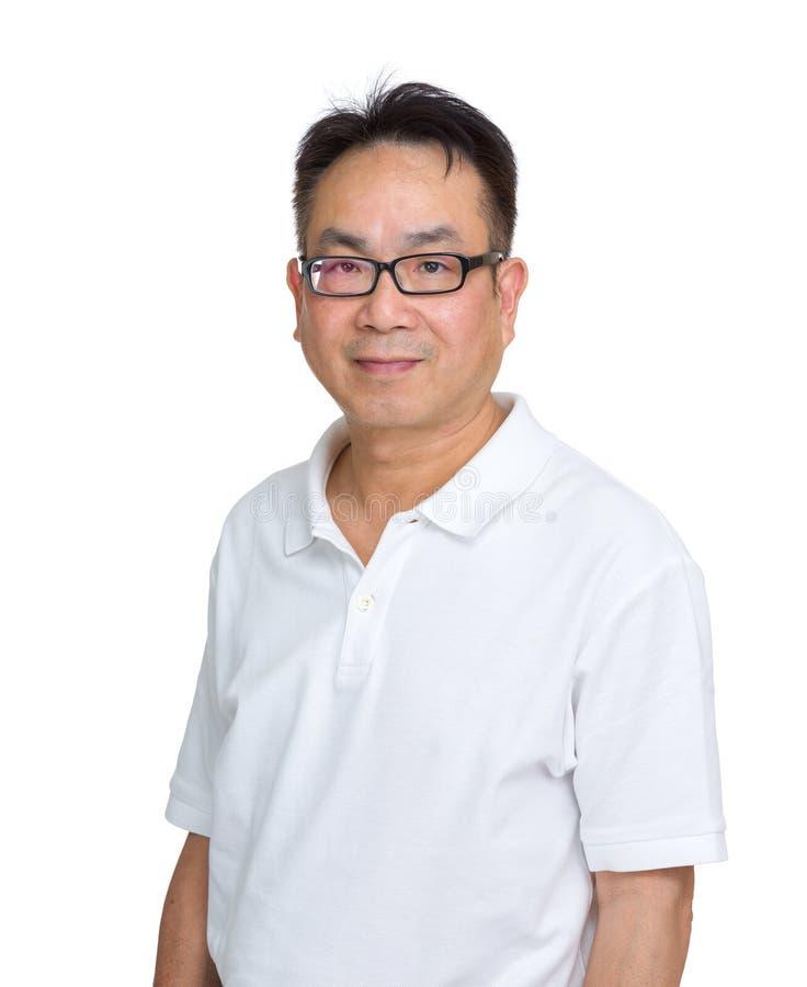 Aziatische mens die glazen dragen royalty-vrije stock foto