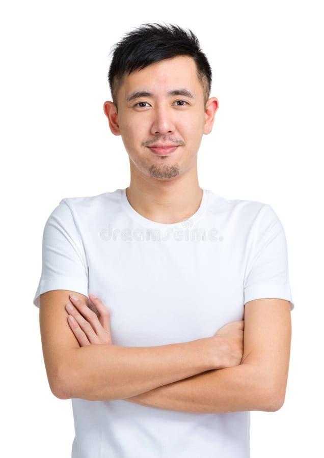 Aziatische mens in toevallig stock fotografie