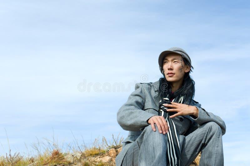 Aziatische mens van manier stock foto's