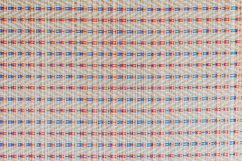 Aziatische multicolored rieten die patroontexturen voor achtergrond worden gemaakt royalty-vrije stock afbeelding