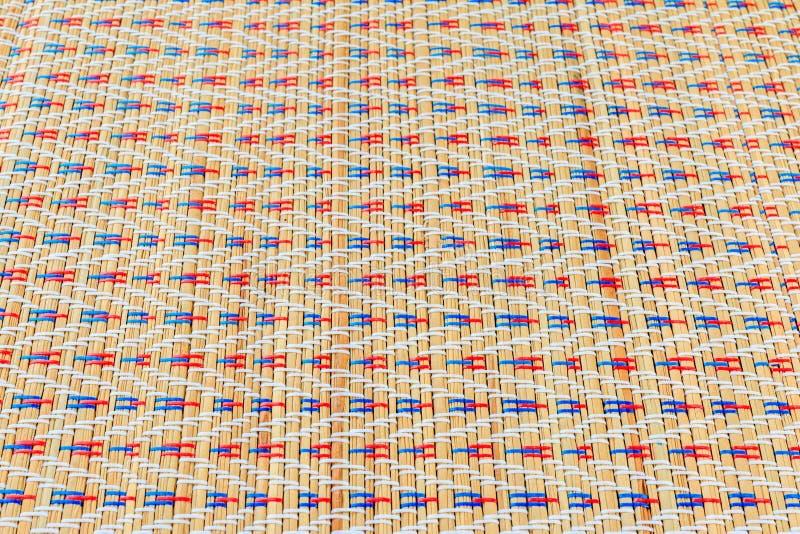 Aziatische multicolored rieten patroontexturen stock afbeeldingen