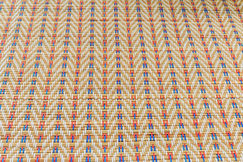 Aziatische multicolored rieten patroontextuur royalty-vrije stock foto's