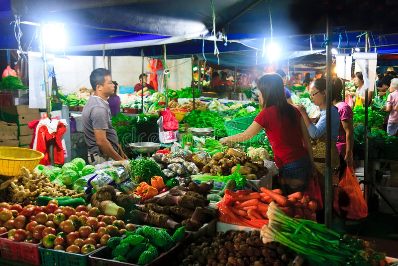 Aziatische Natte Markt stock afbeelding
