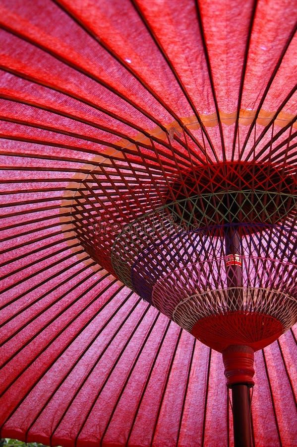 Aziatische Paraplu royalty-vrije stock afbeelding