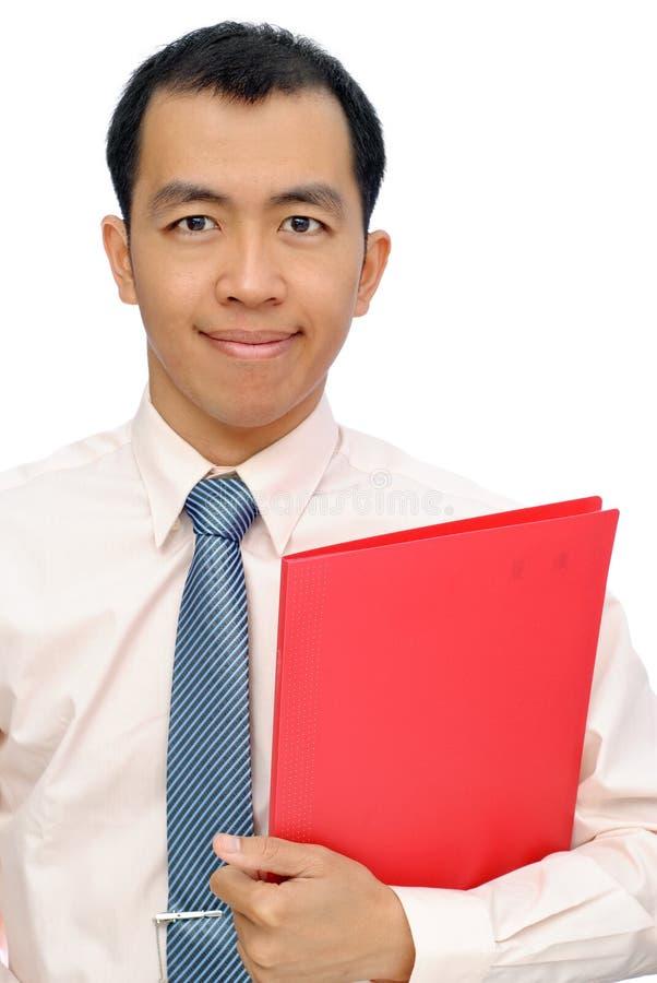Aziatische rijpe bedrijfsmens stock afbeelding
