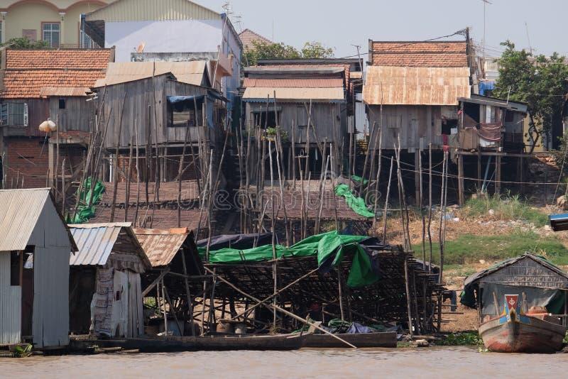 Aziatische rivierbank stock afbeelding