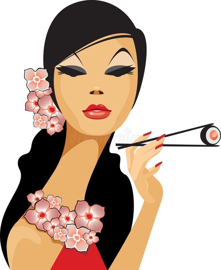 Aziatische schoonheid royalty-vrije illustratie