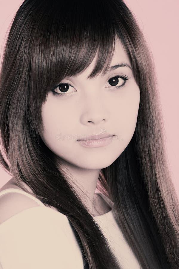 Aziatische schoonheid. royalty-vrije stock foto