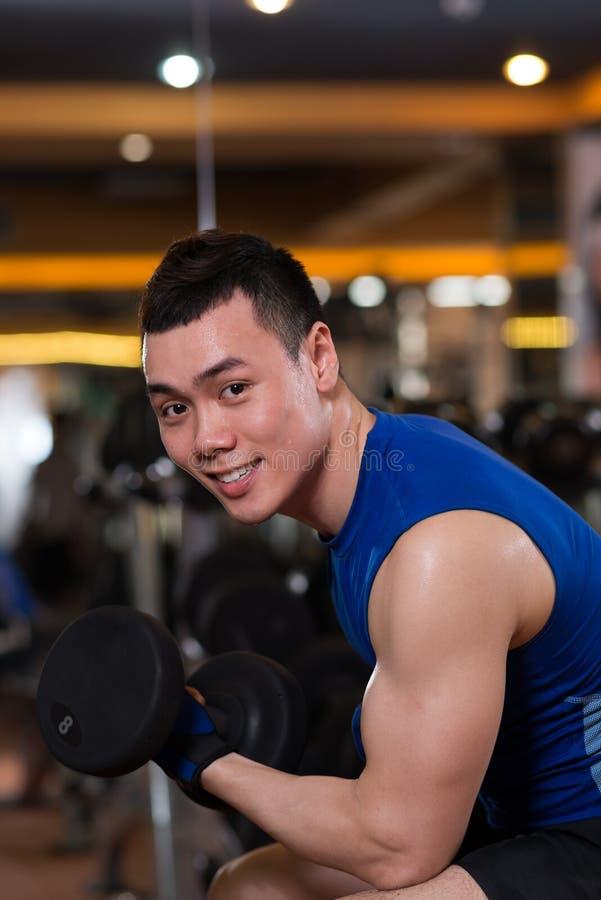 Aziatische Sportman stock fotografie