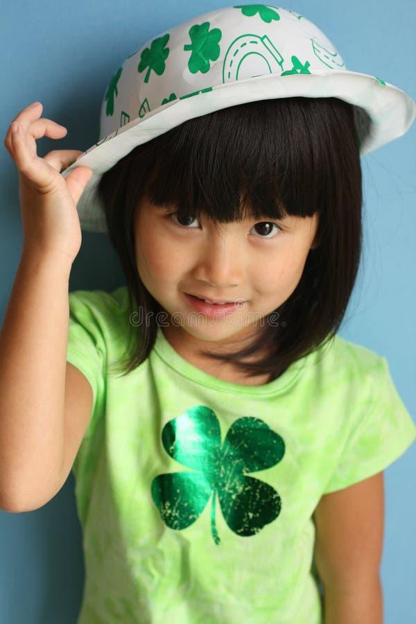 Aziatische St. Patricks Dag stock foto