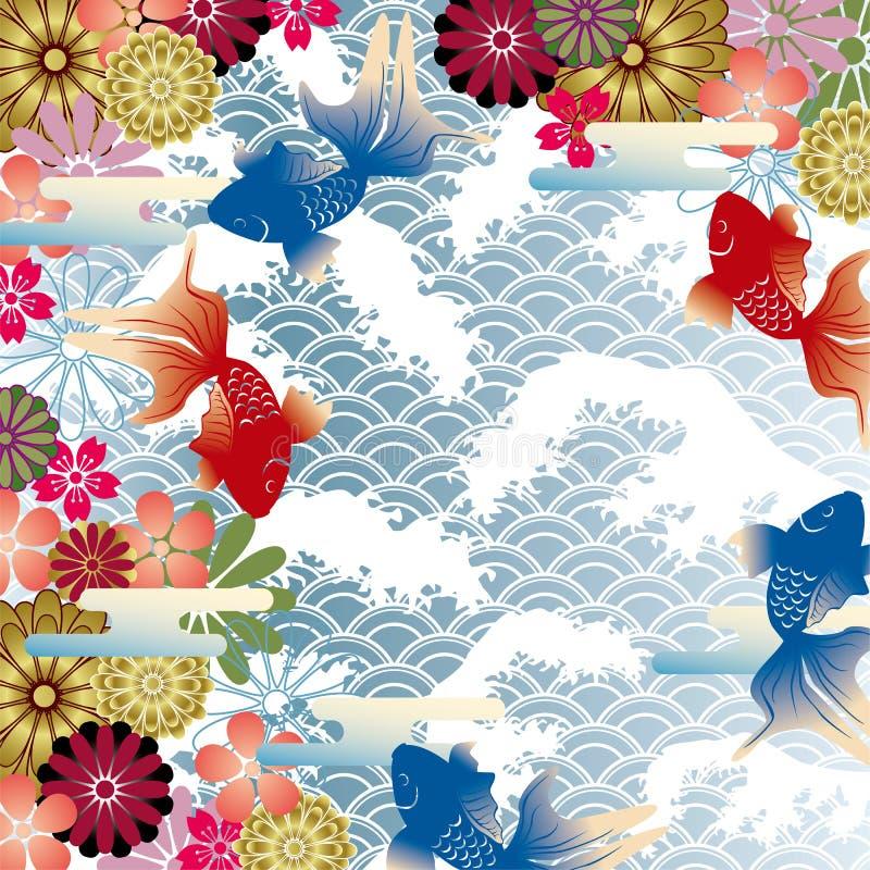 Aziatische stijlachtergrond vector illustratie