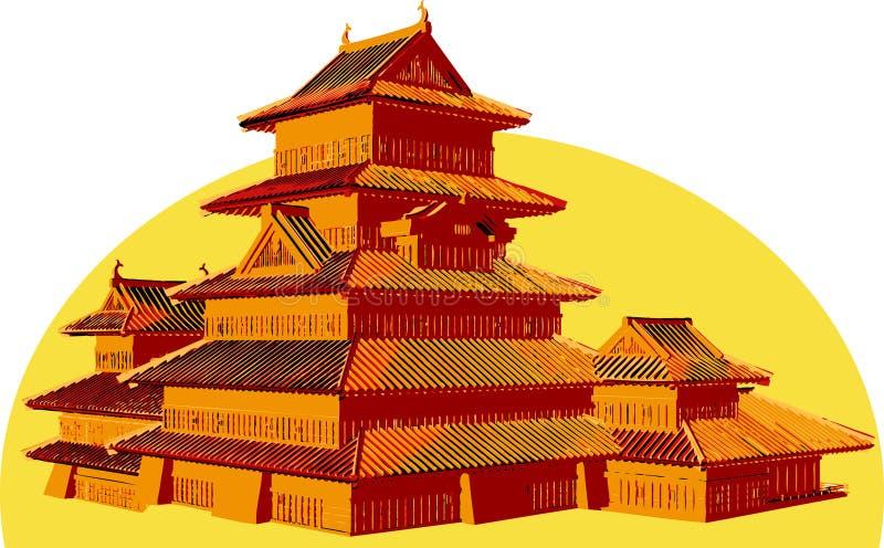 Aziatische structuur. stock illustratie