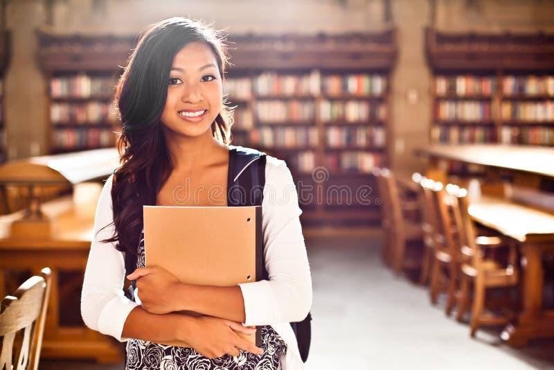 Aziatische student royalty-vrije stock afbeeldingen