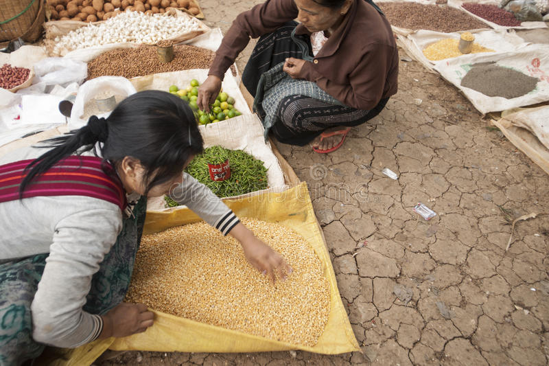 Aziatische traditionele markten. stock foto's