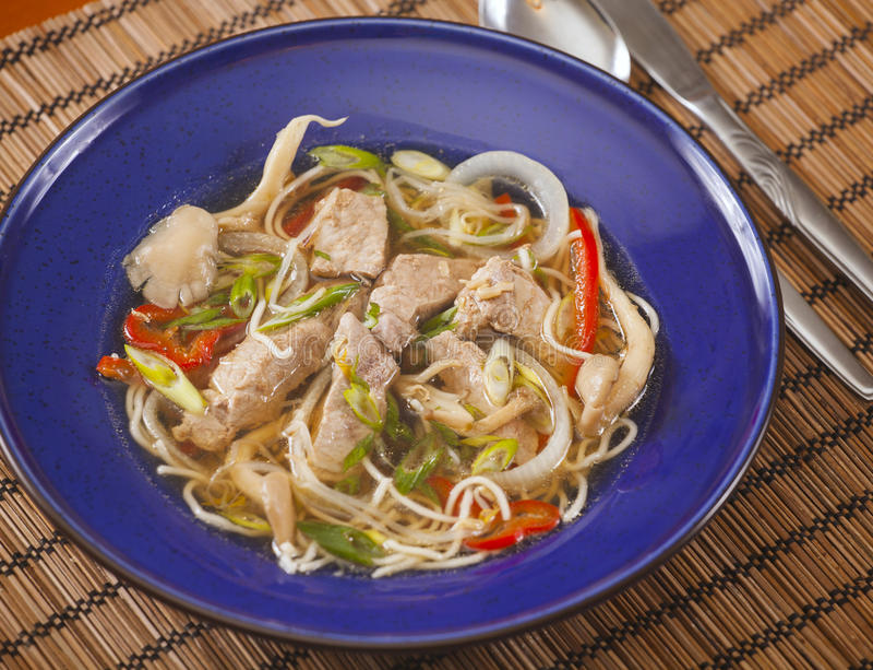 Aziatische Varkensvleessoep stock foto's