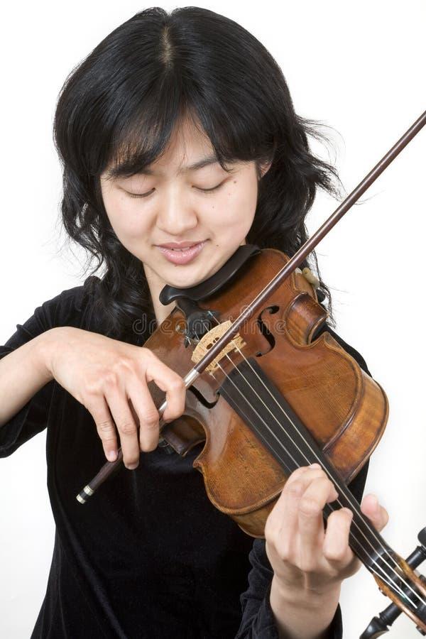 Aziatische violist 3 stock fotografie