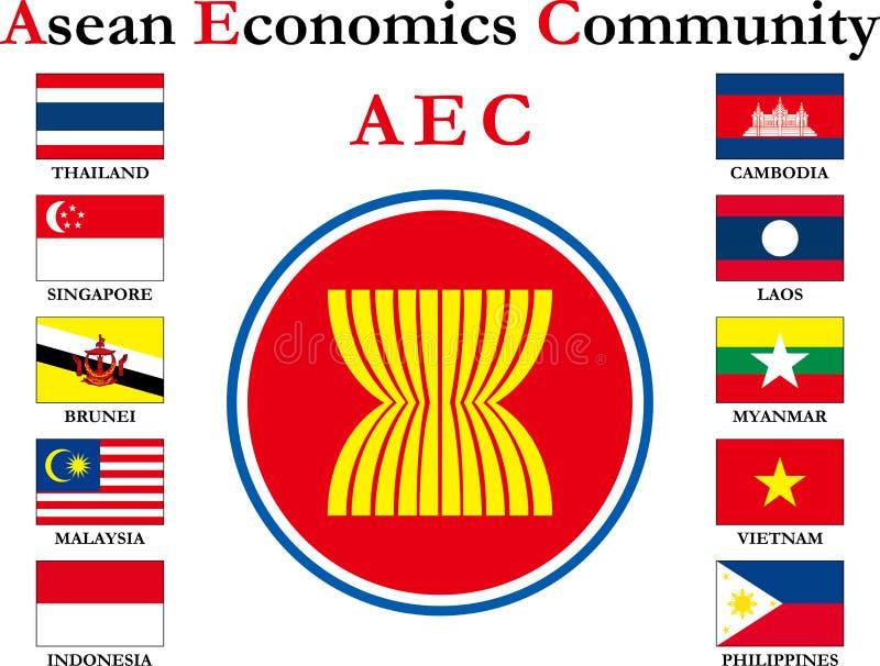 Aziatische vlag royalty-vrije stock afbeelding